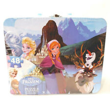 Disney Frozen 48-Piece Puzzle in Tin with Handle Lunchbox Case