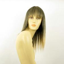 Perruque femme mi-longue Brun méché doré : ABBY 1BT24B