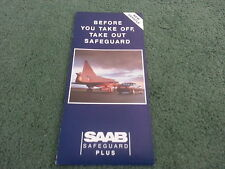 1989 SAAB 900 & 9000 SAFEGUARD PLUS WARRANTY - UK SMALL FOLDER - BROCHURE