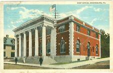 Greensburg, PA., Post Office, Postamt. Post, 1921