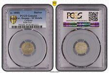 CURACAO - RARE 1 STUIVER TOKEN 1880 YEAR KM#Tn3 PCGS GRADING XF LxC