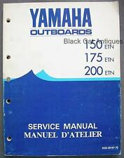 1983 Yamaha Outboards Svc Manual 150-175-200 ETN, Eng/Fr 6G5-28197-75, 492 Pgs