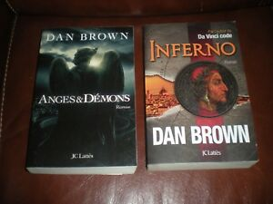LOT 2 GRANDS FORMATS DAN BROWN : ANGES & DEMONS + INFERNO - JC LATTES