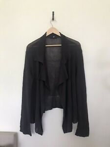 OSKA Dark Grey Cardigan Linen Viscose Blend Size 3 XL Worn Once
