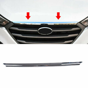 For Hyundai Tucson 2016 2019-20 Chrome Front Bonnet Hood Strip Grill Cover Trim