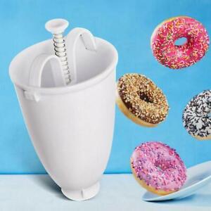 Doughnut Donut Maker Utensil Plastic Machine Manual Dispenser Kitchen Tools DIY