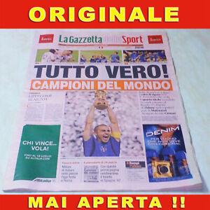 Italia Campioni del mondo Mondiali di Calcio Germania Gazzetta dello sport 2006