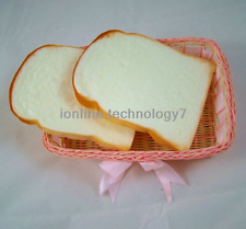 2pc Fake Sandwich Plastic Artificial Bread House Party Kitchen BBQ Decor Prop
