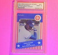 1991 Procards All Stars Carlos Delgado Rookie RC #37 PSA 9  MINT Blue Jays