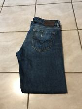DIESEL LARKEE DNA MED WASH BUTTON FLY STRAIGHT LEG JEANS Sz 31x32 MADE IN ITALY