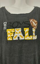 Women's Large Boutique Custom Made Boys Of Fall Football Game Cropped Sweater