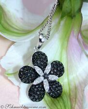 Feminil: negro/blanco diamantes remolque en el diseño de flores, 0,75 CTS. wg585 1200 €