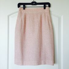 $2700 CHANEL Tweed Boucle Pencil Skirt Pink Blazer Jacket 38 36 2 4 RECENT