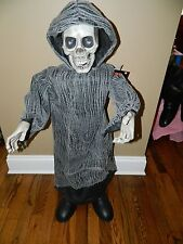 """Halloween Animated 36"""" Musical Dancing Singing Standing Reaper Yikes in the Yard"""