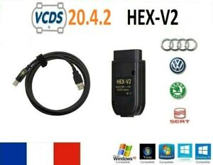 VCDS VAGCOM INTERFACE + LOGICIEL DERNIERE VERSION 20.4.2