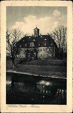 Gröba Riesa Sachsen alte AK 1927 Schloss Palast Prunkbau Gebäude Bauwerk Fluß