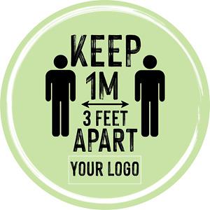Social Distancing Floor Sticker/Decals - Anti Slip, Custom Logo, 1m