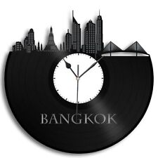Bangkok Vinyl Wall Clock Cityscape Personalized Home Room Office Decor Exclusive