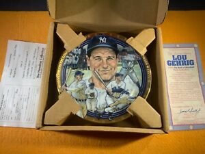 """M7-56 LOU GEHRIG 6.5"""" DECORATIVE PLATE - THE HAMILTON COLLECTION - 1993"""