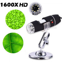 1600X USB Magnifier Digital Microscope Endoscope Stand for Android Windows Mac
