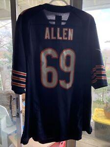 CHICAGO BEARS #69 JARED ALLEN  NIKE NFL FOOTBALL  JERSEY  MENS - 44