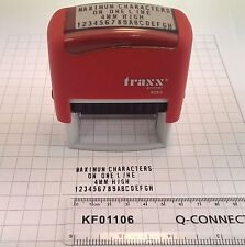 Make Your Own DIY Business Address Rubber Stamp Self Inking Traxx 8052 Kit