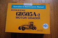 KOMATSU GD505A-2 Motor Grader Owner Operator Operation Maintenance Manual book