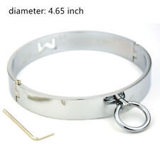 Stainless Steel Locking Slave Collar Ring Neck Restraint Fetish Costume female