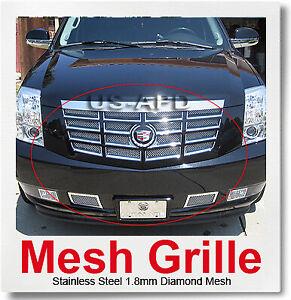 FOR 07-14 2014 2013 2012 Cadillac Escalade Mesh Grille Combo