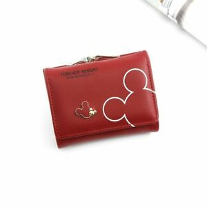 Clutch Wallet Cartoon Mouse Faux Leather Purse Ladies Women Short Card Holder