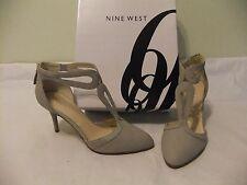 NINE WEST Endearing Light Grey Nubuck Leather Heel Dress Pump Size 7 NIB $99
