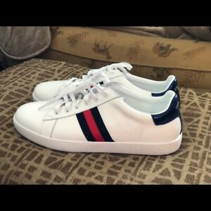 Gucci Ace White 'Logo' Sneakers New