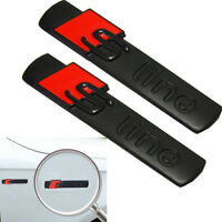 2 Pcs High Quality S Line Badge Emblems Chrome Black Matt Badges Decal For Audi