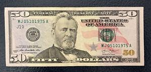 May 10th 1975 Birthday Anniversary Bill $50 US Dollars Note **L@@K**.