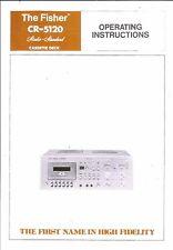 Fisher  Bedienungsanleitung user manual owners manual  für CR- 5120
