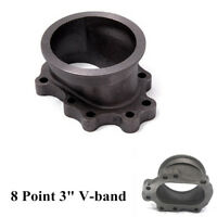 "3"" To 8 Bolt V Band Adapter T25 T28 GT25 GT28 Turbo Downpipe Cast Iron Flange"