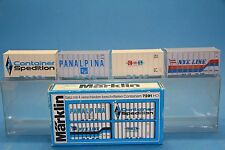 M&B Marklin HO 7291 Container set with different imprints for use on 4664 ect