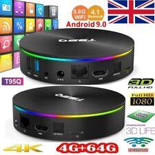 T95Q Android 9.0 TV Box 4K Quad Core Dual WiFi 4G+64GB BT4.1 3D Smart TV Box UK