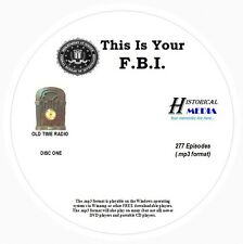 THIS IS YOUR F.B.I.  - 277 Shows Old Time Radio In MP3 Format OTR On 3 CDs