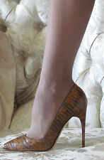 Rare New TOM FORD Exotic,Lizard skin,Pointy,Pumps dress-y shoes IT 38,5/US 8,5