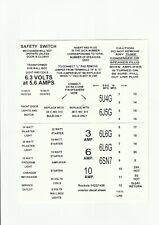 JUKEBOX ROCK-OLA 1422 - 1426 OR 1428  MODEL P  AMPLIFIER  CONTROL BOX DECAL SET
