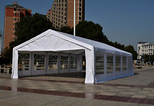 33x20FT Outdoor Heavy Duty Carport Canopy Gazebo Wedding Party Tent Garage White