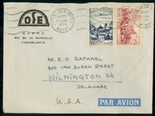 Mayfairstamps Morocco 1951 OSE Casablanca Plane Over City Cover wwf_48865