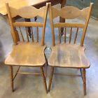 Unique Set 2 Antique Wood Chairs Farm Kitchen Dining SCOTTIE Dog Stencil Vintage