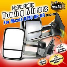 Pair Chrome Extendable Towing Mirrors for Mazda BT-50 UP UR 2012-2019