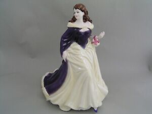 "COALPORT LADIES OF FASHION MERRY CHRISTMAS 2006 9"" FIGURINE, BOXED."