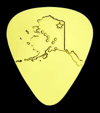 ALASKA - Solid Brass Guitar Pick, Acoustic, Electric, Bass