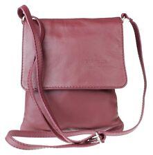 New Genuine Soft Leather Italian Cross Body Shoulder Bag Flap Zipped Messenger