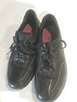 Clarks Dress Shoes Mens Size 11 Lace Up Matte Black Lightweight Leather