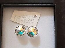 Genuine Swarovski Elements 13mm AB Crystal Gift Boxed Stud Earrings